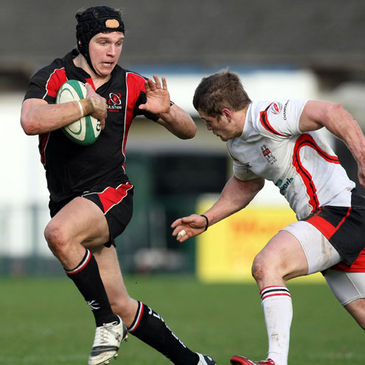 Michael Allen pictured on the attack for the Ulster Ravens