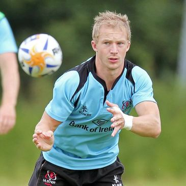 Michael Heaney training with the Ulster squad