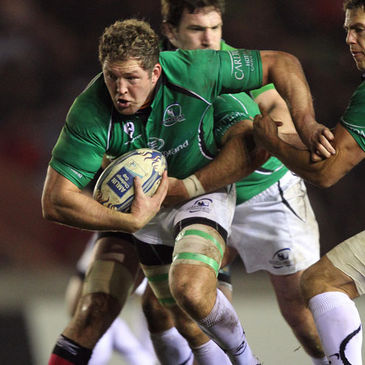 Michael Swift in action for Connacht earlier in the season