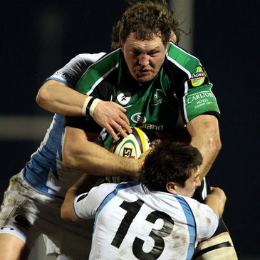 Connacht's Michael Swift in action against Glasgow