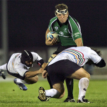 Michael Swift in action for Connacht against Olympus Rugby Madrid