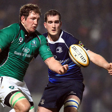 Michael Swift and Devin Toner compete for possession