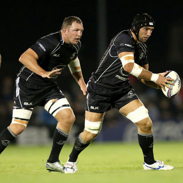 Connacht's Michael Swift and John Muldoon