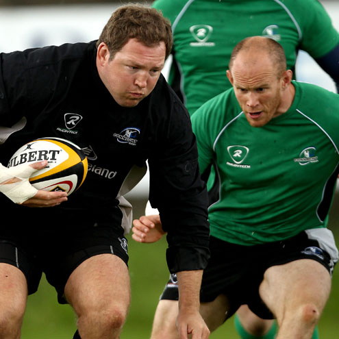Connacht's Michael Swift and Johnny O'Connor
