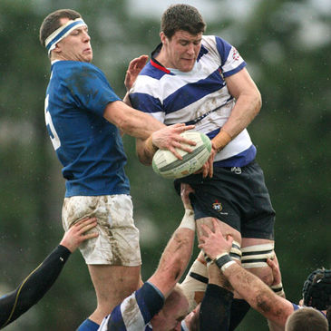 Flanker Mick Carroll secures lineout possession