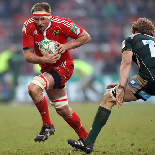 Mick O'Driscoll in Heineken Cup action for Munster
