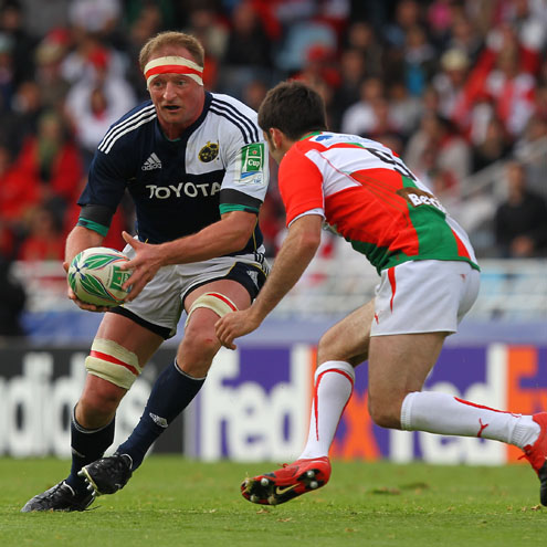 Mick O'Driscoll in action against Biarritz Olympique