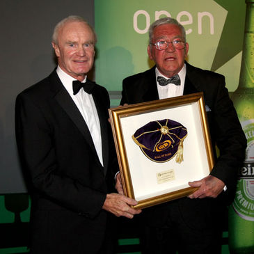 Mike Gibson with former IRB Chairman Dr Syd Millar