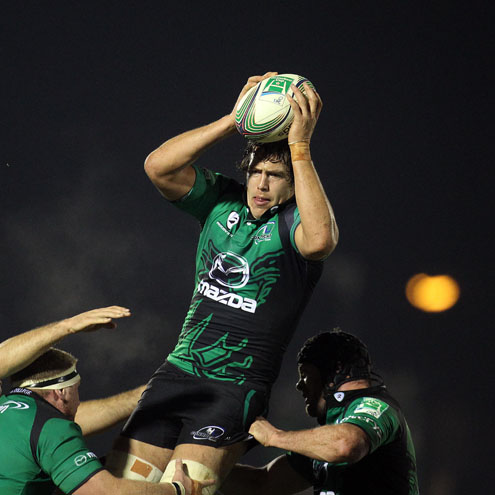 Connacht's Mike McCarthy in possession against Toulouse