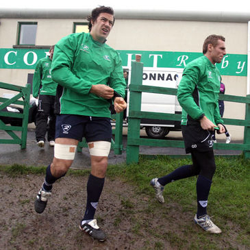 Connacht's Mike McCarthy and Gavin Duffy