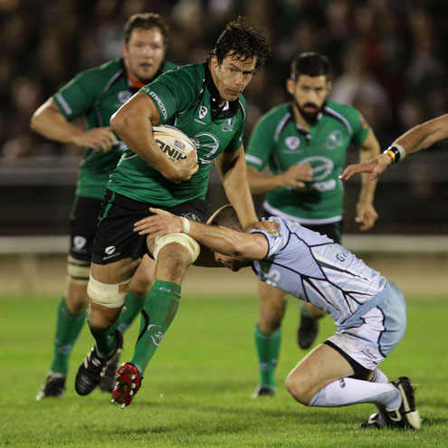 Mike McCarthy in action for Connacht