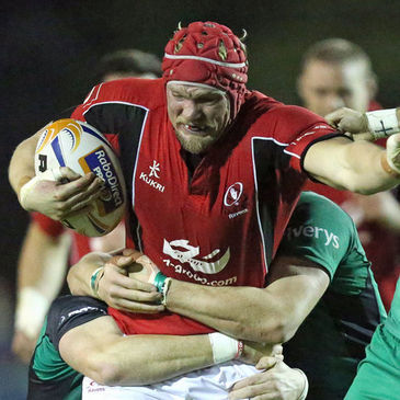 Mike McComish in action for Ulster Ravens