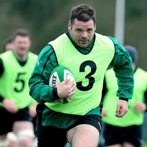 Photos of the Ireland players training at Carton House
