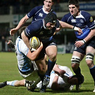 Mike Ross in Magners League action for Leinster