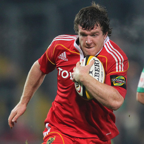Mike Sherry in action for Munster