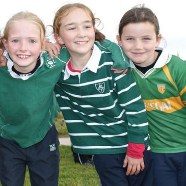 Girls Mini rugby in Donegal