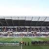 A minute's silence was held at the Liberty Stadium as a mark of respect for the victims of the Christchurch earthquake