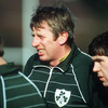 Moss, who toured New Zealand with the 1977 Lions, is pictured looking on during an Ireland training session