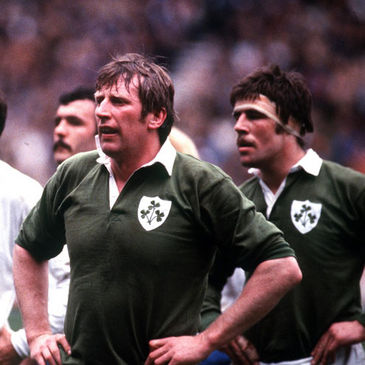 Moss Keane alongside his second row partner Donal Lenihan
