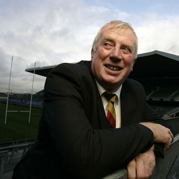 Moss Keane at Lansdowne Road in 2005