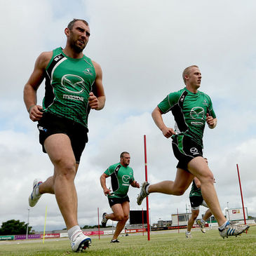 Connacht's John Muldoon and Aaron Conneely