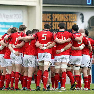 The Munster 'A' squad huddle together