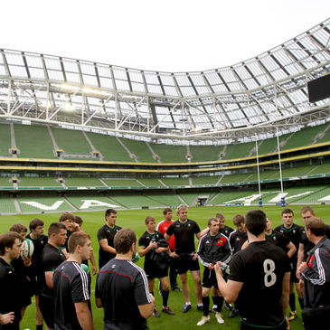 The Connacht/Munster players at the Aviva Stadium