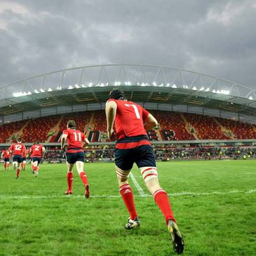 The Munster Under-20s run out at Thomond Park Stadium