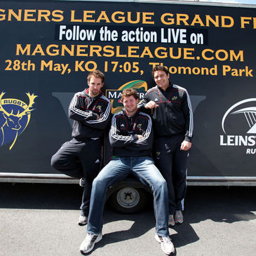 Munster's Tomas O'Leary, Donnacha Ryan and David Wallace