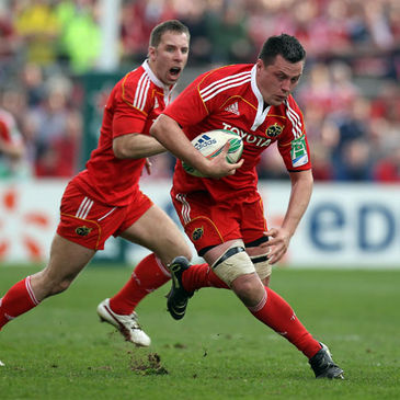 Munster's Tomas O'Leary and James Coughlan