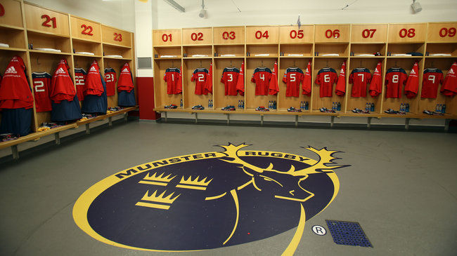 Inside the Munster dressing room