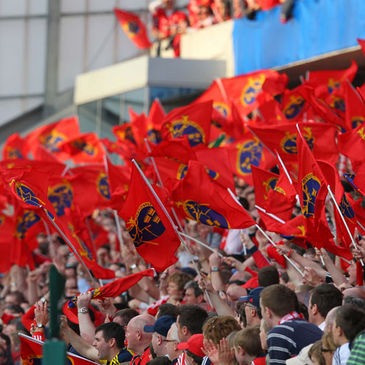 The Munster fans create a typically rousing atmosphere at Thomond Park