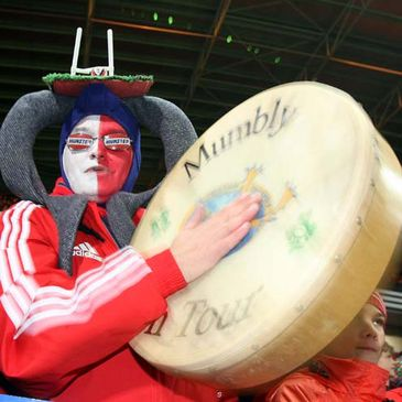 A fan at last month's Munster v New Zealand game