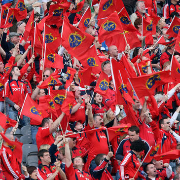 A view of the flag-waving Munster fans