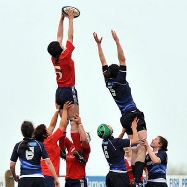 Lineout action from the recent Munster v Leinster clash