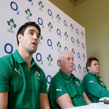Ireland's Conor Murray, Michael Kearney and Gert Smal