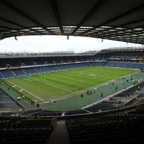 Match day at Murrayfield