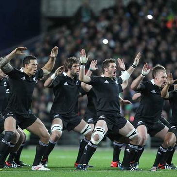 The All Blacks perform the haka