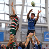 Scotland international Nathan Hines secures lineout possession for Leinster against the current Aviva Premiership leaders