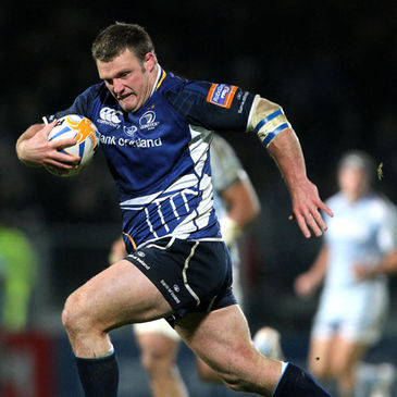Nathan White on the attack for Leinster