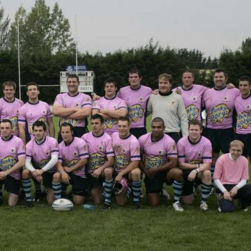 The Navan players in their pink jerseys