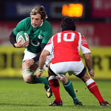 Neil Best in action for Ireland 'A' against Tonga