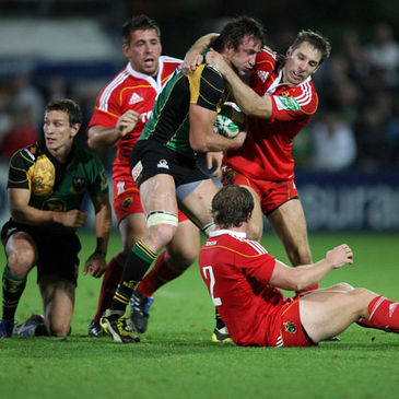 Northampton's Neil Best in action against Munster