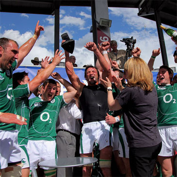 Neil Best lifts the Churchill Cup trophy for Ireland 'A'