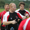 As well as working with the senior squad's backs, Neil Doak is continuing his work as coach of the Ulster Academy players