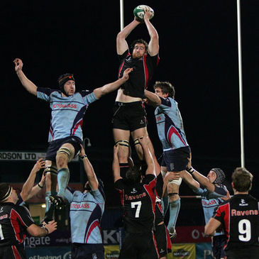 Neil McComb secures lineout possession for Ulster Ravens