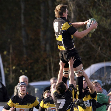Neville Melbourne wins a lineout for Young Munster