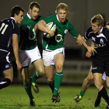 Nevin Spence in action for the Ireland Wolfhounds