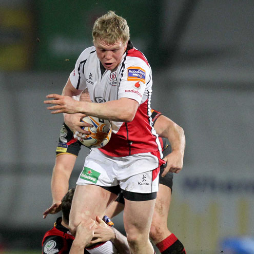 Nevin Spence in action against the Dragons