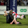 Nevin was back in try-scoring form for Ulster in March 2011, helping the province beat the Newport Gwent Dragons 25-23 at Ravenhill